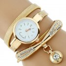 Gnova Platinum Fashion Luxury Brand New Women Rhinestone Gold Bracelet