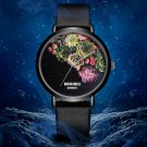 BSL1011 BAOSAILI Floral Design Black Case Japan PC21 Movt Water Resistant