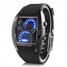 Fashion Men's Stainless Steel Luxury Sport Analog Quartz LED Wrist Watch-in