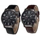 Retro Design Leather Band Analog Alloy Quartz Wrist Watches relogio masculi