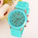 Gnova Platinum Classic Silicone Women Watch Golden Geneva style wristwatch