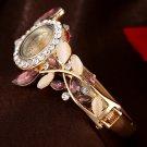 Lvpai Fashion Vintage Women Dress Watches Colorful Crystal Women Bracelet W