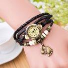 Xiniu Brand Fashion Round Dial Quartz Watch Women Weave Around Leather Foot