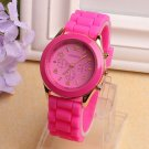 Casual Watch Geneva Unisex Quartz watch 14color men women Analog wristwatch