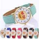 2017 Cute expression Watches Neutral Simple Leather Quartz WristWatch Relog