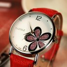 Yazole Watches Women 2016 Fashion Leather Strap Flower Female Clock Ladies