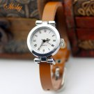 shsby New fashion hot selling Genuine leather female silver watch ROMA vint