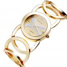JW089 BAOSAILI  Brand Imitation Gold Plated Circles Strap Stainless Steel B