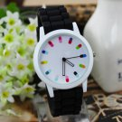 Simple Pattern Lovely Jelly Silicone Watch Women Watches Mens Quartz Wristw