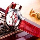 SINOBI New Chinese Women Watches For Plum Flower Female Red Leather Fashion