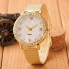 Xiniu Woman Watch Crystal Roman Gold Mesh Band waterproof  Wrist Watch wome