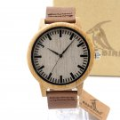 BOBO BIRD C A16 Women Wooden Bamboo Watches for Men Real Leather Strap Quar