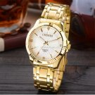 NATATE Golden Clock Gold Fashion Women Watch Full gold Stainless Steel Quar