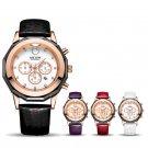 New MEGIR Women Watches Fashion Luminous Leather Quartz Ladies Wrist Watch