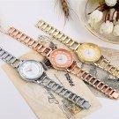 CRRJU New Fashion Silver Women Watch Rose Gold Steel Quartz Bracelet Watche