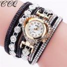 CCQ Brand Fashion Luxury Rhinestone Bracelet Watch Ladies Quartz Watch Casu