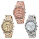 High Quality Geneva Brand Full Steel Watch Women Ladies Men Fashion Crystal