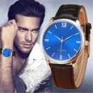 Relojes hombre 2017 Fashion Mens Watch Male Clock Business Casual Leather Q