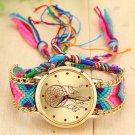 Vansvar Brand Handmade Braided Dreamcatcher Friendship Bracelet Watch Ladie