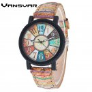 Vansvar Brand Fashion Casual Relogio Feminino Vintage Leather Women Quartz