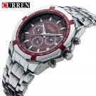 Men Business Watch Clock Curren Mens Watches Top Brand Luxury Military Full
