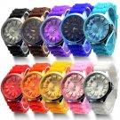 1 PC Fashion Pretty Jelly Wrist Watch Men Women Silicone Quartz Sports Watc