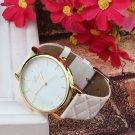 MINHIN Women PU Leather Dress Watch Lady Casual Leather Quartz Watch Analog