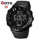 OTS Men's Watch LED Sports Digital Watch Clock 50M Waterproof Men Top Brand