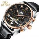 KINYUED Skeleton Automatic Watch Men Waterproof Top Brand Mens Mechanical W