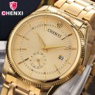 2017 CHENXI Gold Watch Men Luxury Business Man Watch Golden Waterproof Uniq