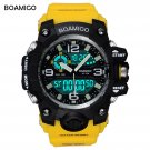 BOAMIGO brand men sport watches dual display LED digital analog wrist watch