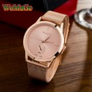 WoMaGe 2017 New Fashion women watches Quartz Watch Women rose gold Stainles