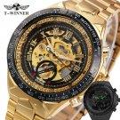 2017 New Fashion Men Mechanical Watch Winner Golden Top Brand Luxury Steel