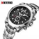 NEW CURREN Luxury Brand Men Full Steel Business Wristwatches Man Casual Wat