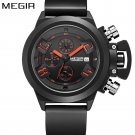 MEGIR new brand silicone band analog Chronograph stop watch military army s