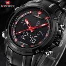 Top Men Watches Luxury Brand Naviforce Men's Quartz Hour Analog LED Sports