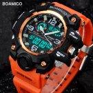 men sport watches dual display digital LED orange watch quartz watch BOAMIG