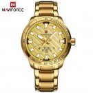 NAVIFORCE Luxury Brand Men Stainless Steel Gold Watch Men's Quartz Clock Ma