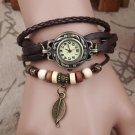 Vintage Watch Women Watches Montre Femme Relogio Feminino PU Leather Clock