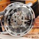 2016 new hot sale skeleton hollow fashion mechanical hand wind men luxury m