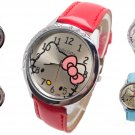H124 Free Shipping Wholesale New leather wrist watch women children girl ca