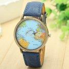 Clock 2017 women watches Fashion Global Travel By Plane Map Pattern reloj m