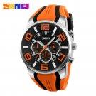 SKMEI New Six Pin Men Quartz Analog Sport Watch Fashion Casual Stop Watch D