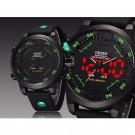 Ohsen Sports Mens Watches Top Brand Luxury Analog LED Digital Quartz Big Di