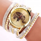 New Popular Fashion Elephant Pattern Bracelet Watches  Watch Women Dress Cl