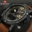 NAVIFORCE Watches Men Luxury Brand Quartz Leather Clock Man Sport Watches A