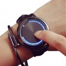 GSWP Brand creative minimalist leather waterproof Touch screen LED watch me