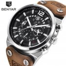 BENYAR Sport Men Watches Skeleton Military Chronograph Quartz Man Outdoor B