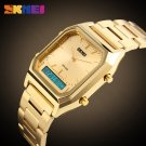 2017 Skmei Top Brand Luxury Men Sport Wrist Watch Mens Gold Square Digital