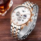 Mens Watches Top Brand Luxury LIGE Moon Phase full steel Watch Man Business